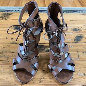 Mossimo Strappy Heeled Sandals - Brown